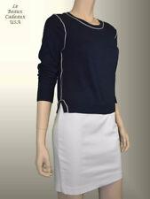 NEW$49.9 BANANA REPUBLIC Women Sweater SMALL S Navy Blue Crew Neck Long Sleeve