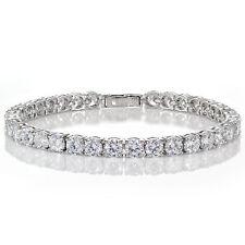 Womens DIAMOND TENNIS WEDDING BRACELET White Gold Enhanced 15ct