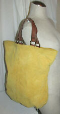Lucky Brand Yellow Suede Leather Convertible Purse/Shoulder Bag/Tote/Hobo