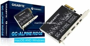 Gigabyte GC-Alpine Ridge Thunderbolt 3 USB-C flashed Apple Mac Pro Boot Screen
