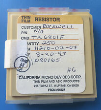 TX6801F CALIFORNIA MICRO DEVICES RESISTOR THIN FILM ASIC 250/units total