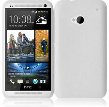 For HTC ONE / M7 Rubber Soft Silicone Gel SKIN Case Phone Cover White