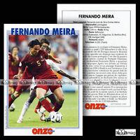 FERNANDO MEIRA (SL BENFICA) - Fiche Football / Futebol 2006