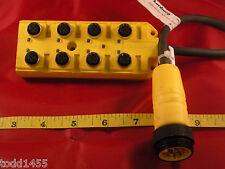 Lumberg ASB 8/LED 5/4-RS120M Distribution Block Box Connector #100 ASB 8 LED 5/4