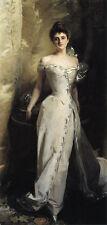 Oil John Singer Sargent - Noblelady Mrs. Ralph Curtis in White evening dress