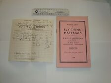 Messeena Leamington Spa List fishing old Fly Tying Mat&inv.McClure Prestwick Ayr