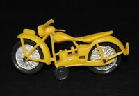 Vintage Yellow Motorcycle Dime Store Toy 1960's Novelty Hong Kong