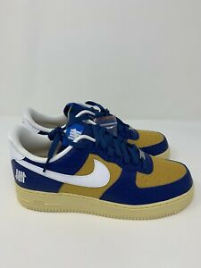 """Nike Air Force 1 Low Undefeated """"5 On It"""" Blue Yellow Croc, Size 10.5, 11"""