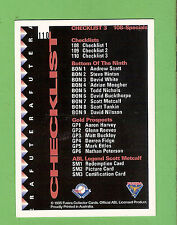 1995 AUSTRALIAN BASEBALL CARD #110  CHECKLIST 3