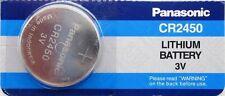 CR 2450 PANASONIC LITHIUM BATTERIES (1 piece) 3V Watch New Exp 2024