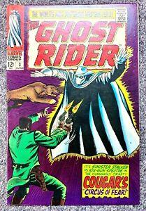 GHOST RIDER #3 (WESTERN) MARVEL COMICS 1967 Dick Ayers BARTON BROS CIRCUS COUGAR