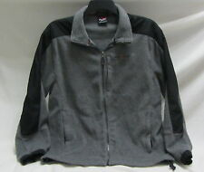 Zero Xposur dark hunter gray full zip up fleece jacket/coat mens L ~ EUC