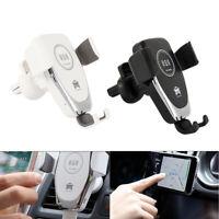 360 ° Qi chargeur sans fil charge rapide support téléphone support voiture D1