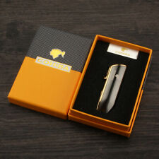 Cohiba Windproof Metal 3 Jet Torch Flame Cigarette Cigar Lighter Punch Gift Box