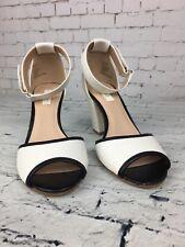 Women's NEXT White Block Heeled Ankle Straps Sandals Shoes - Size UK 3.5 / EU 36