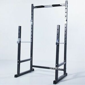 Half Frame Squat Barbell Rack Indoor Fitness Pull Up Weightlifting Bed Bench