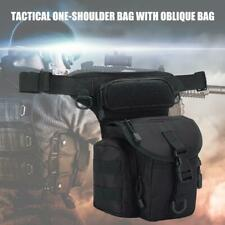 Waterproof Drop Leg Bag Motorcycle Tactical Hiking Thigh Waist Belt Fanny Pack