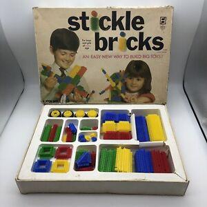 Vintage 1969 STICKLE BRICKS (Denys Fisher) Super Set Boxed Construction Toy