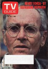 1981 TV Guide - Henry Fonda - Katharine Hepburn - Fantasy Island - The Fall Guy