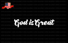 God is Great Decal Sticker Christian Religious Blessed Pray