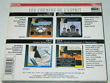 lot 4 CD LES CHEMINS DE L'ESPRIT Chants Catholiques Protestants JUIFS orthodoxes