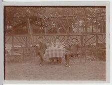 (f1505) ORIG. foto dama M. signori seduti I. Birra Giardino, kaffekränzchen 1920er