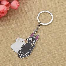 Studio Ghibli Kiki's Delivery Service Jiji Lily Keyring Key Ring Souvenir Gift