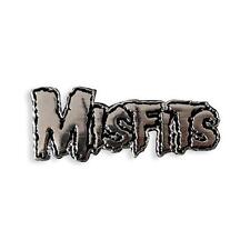 OFFICIAL MISFITS COLLECTIBLE BLACK METAL PLATED LAPEL PIN BY YESTERDAYS CO