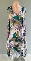 💜 TS Sleeveless Trapeze Midi Dress Multicolor Size 18 Buy7=FreePost L799