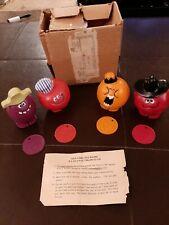 Complete set of 4 Pillsbury Vintage 1971 Funny Face Fruit toys