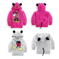 59003a1ad Baby Girls Hooded Coat Jacket Toddler Kids Plush Outfit Rabbit Ear ...