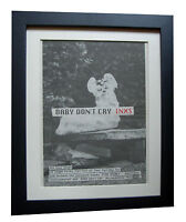 INXS+Baby Don't Cry+POSTER+AD+ORIGINAL 1992+QUALITY FRAMED+EXPRESS GLOBAL SHIP