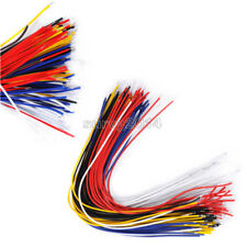 100PCS NEW Color Flexible Two Ends Tin-plated Breadboard Jumper Cable Wires 20CM