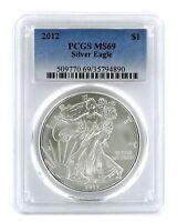 2012 1oz American Silver Eagle PCGS MS69 - Blue Label