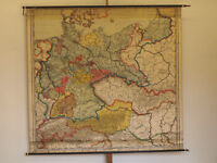 Wandkarte Deutsches Reich 220x205cm ~1927 vintage wall map german empire germany