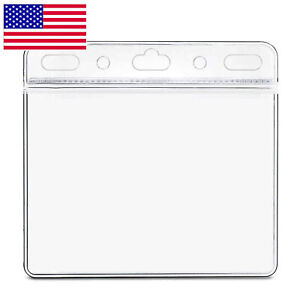 """1-10PCS Clear Vaccination Card Protector 4x3"""" Vaccine Record Holder Badge Sleeve"""