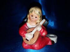 Goebel Engel spielt Mandoline Kerzenhalter 42077 ??  rot,  80er Jahre