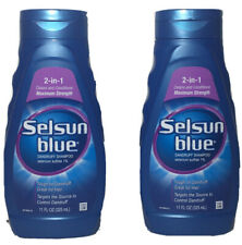 Selsun Blue 2 In 1 Maximum Strength Dandruff Shampoo 11oz 2 Pack