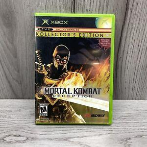 MORTAL KOMBAT DECEPTION KOLLECTORS EDITION SCORPION XBox 2004 Complete  No Card