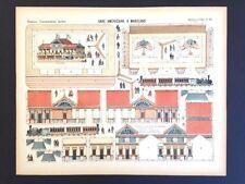 Imagerie D'Epinal No 56 Gare Américaine, Grandes Construction toy paper model