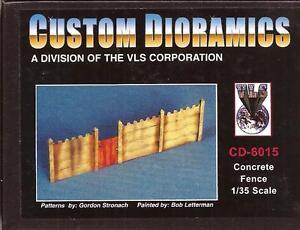 Custom Dioramics Concrete Fence Resin  Model Kit 1/35 Scale CD-6015