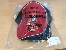 Official NOS BMW Motorrad Team Baseball Peaked Cap Buildbase Red Blue S/M