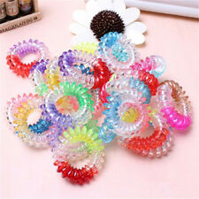 10* lots Spiral Slinky Elastic Rubber Tie Wire Coil Hair Bands Rope Ponytail HQ