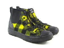 New Converse x Woolrich Chelsea Boots Hi Size 9 Women Black Yellow Wool 553385C