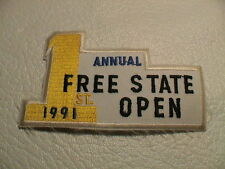 1ST ANNUAL FREE STATE OPEN 1991 GUN CLUB SKEET TRAP CLAY GUN HUNTING PATCH NEW