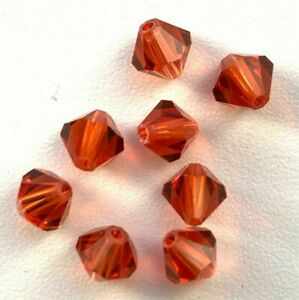 2 Gross Swarovski Rhinestone Bi-Cone Beads - 5301 4mm Indian Red - All New