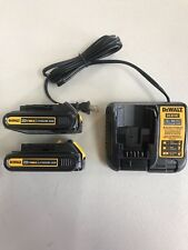 New 2 Dewalt DCB207 20V MAX COMPACT  LITHIUM ION Battery's and DCB107 Charger