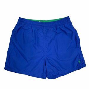 Vintage Polo Ralph Lauren Shorts Swim Trunks Mesh Lined Blue Men Size M New 90s