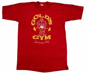 GOLD'S GYM Lancaster PA vintage t shirt Small red single stitch