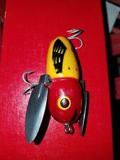 Helldon Red Eye Crazy Crawler Bass Fishing Lure Wood